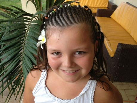 Tresse africaine de petite fille - Tresse colle pour petite fille ...