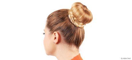 Chignon avec donut cheveux long
